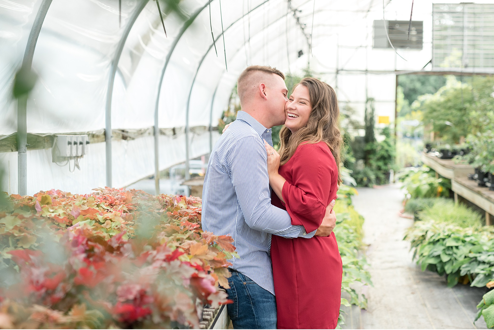 Lancaster County Greenhouse Engagement Session Photography