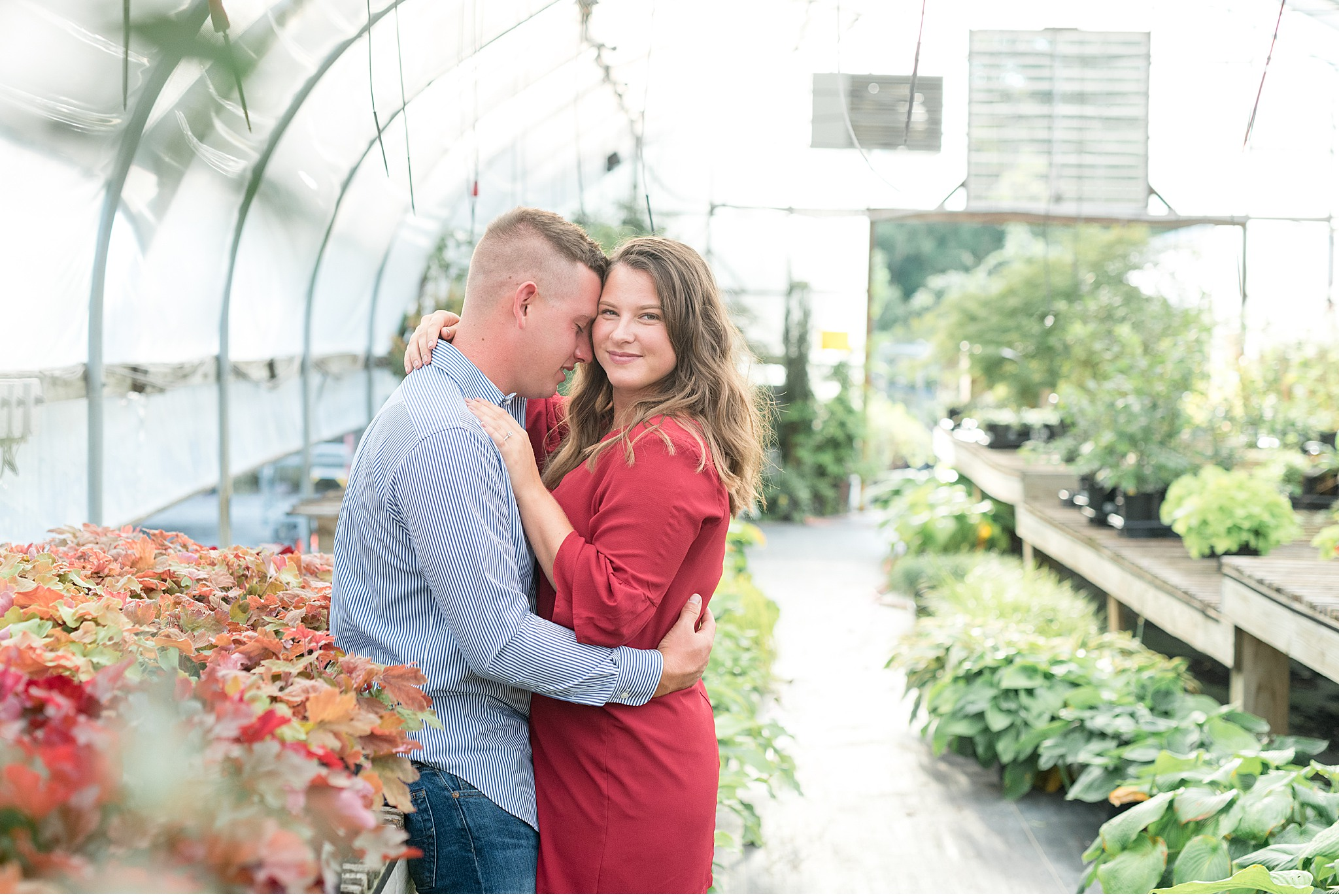 Tudbinks Greenhouse Lancaster County Greenhouse Engagement Session Photography