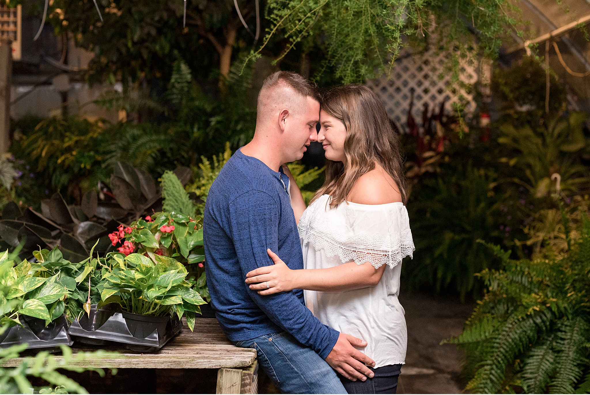 Lancaster Greenhouse Engagement Session Lancaster PA Photography