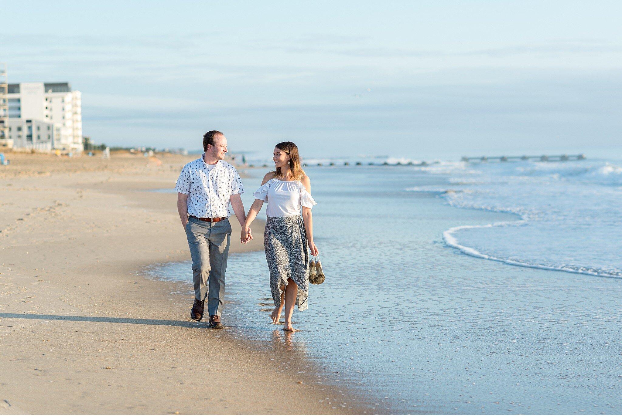 Rehoboth Beach Sunrise engagement session Cape Henlopen Beach Photography_4085.jpg