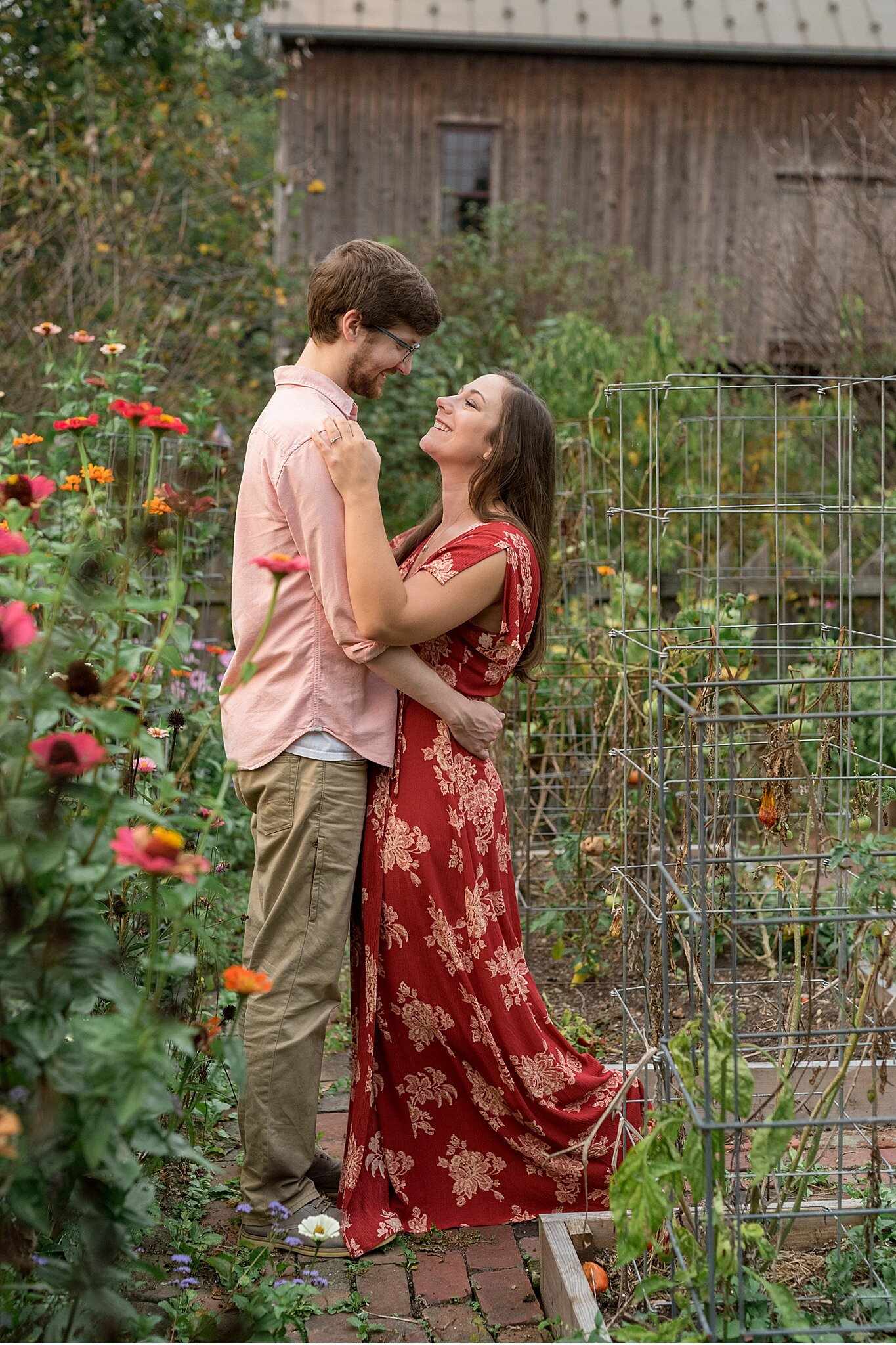 Lititz PA engagement photography floral photography