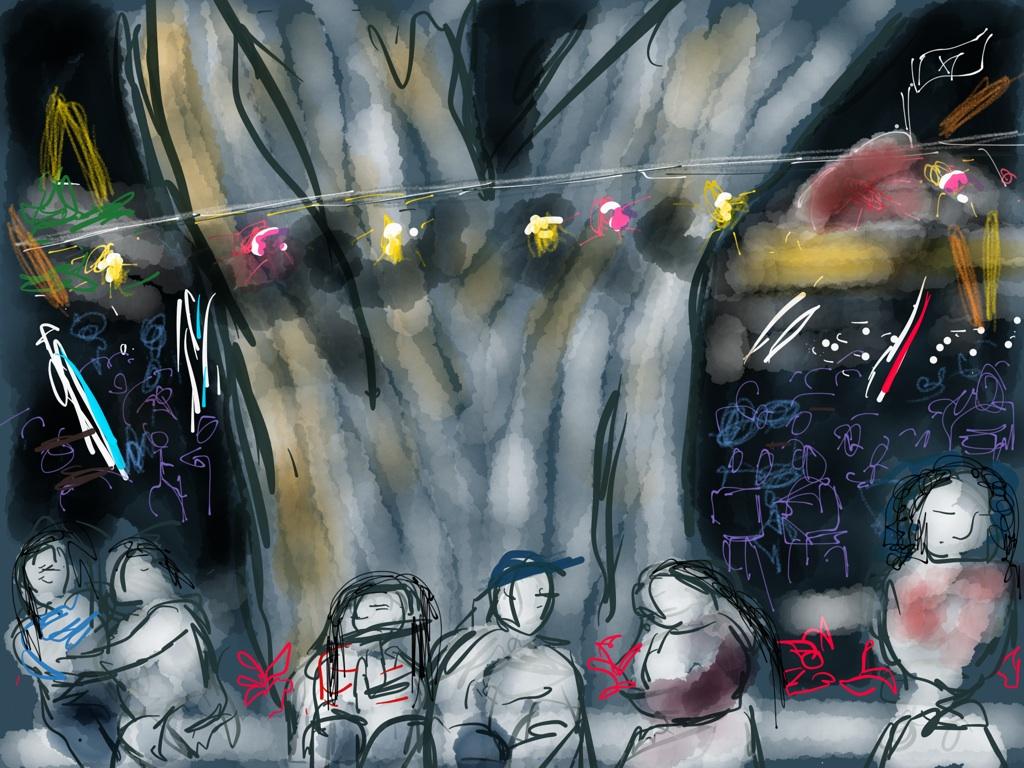 "Courtyard, 12 x 12"" ipad drawing"