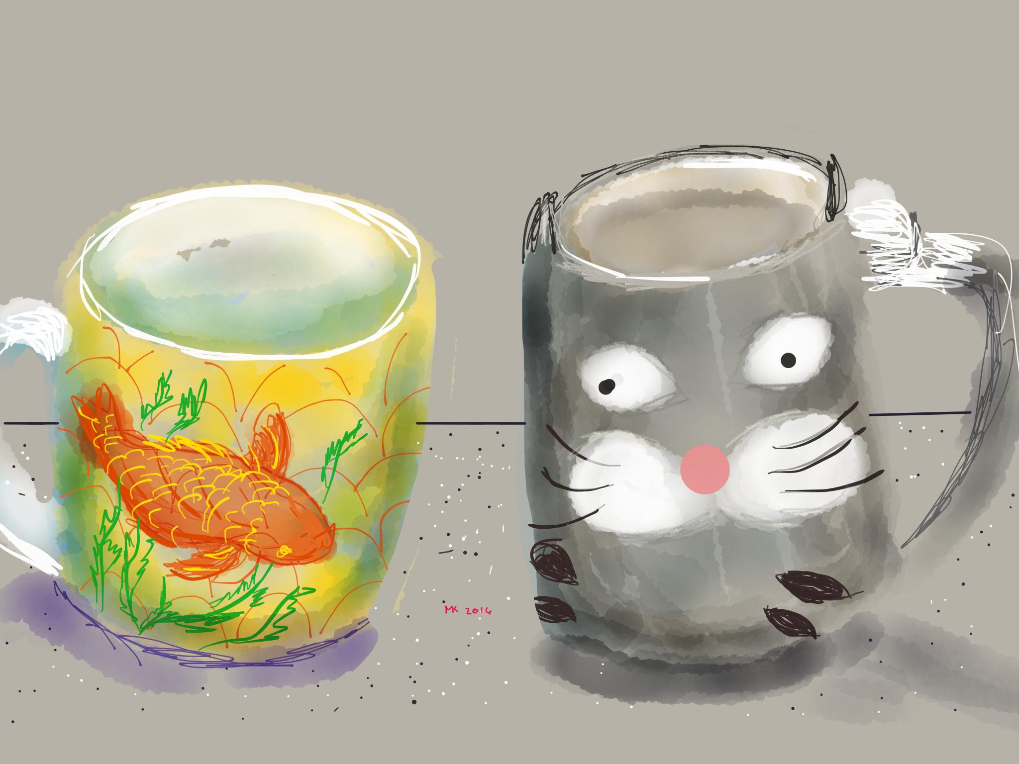 Always time for coffee:  MUG SHOTS