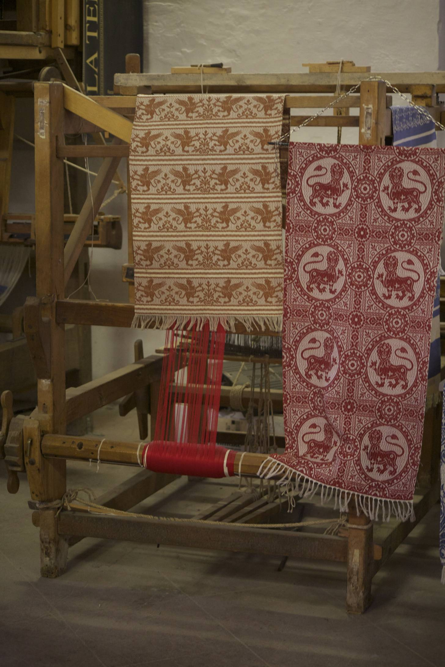 Tour a traditional textile maker in an old church.