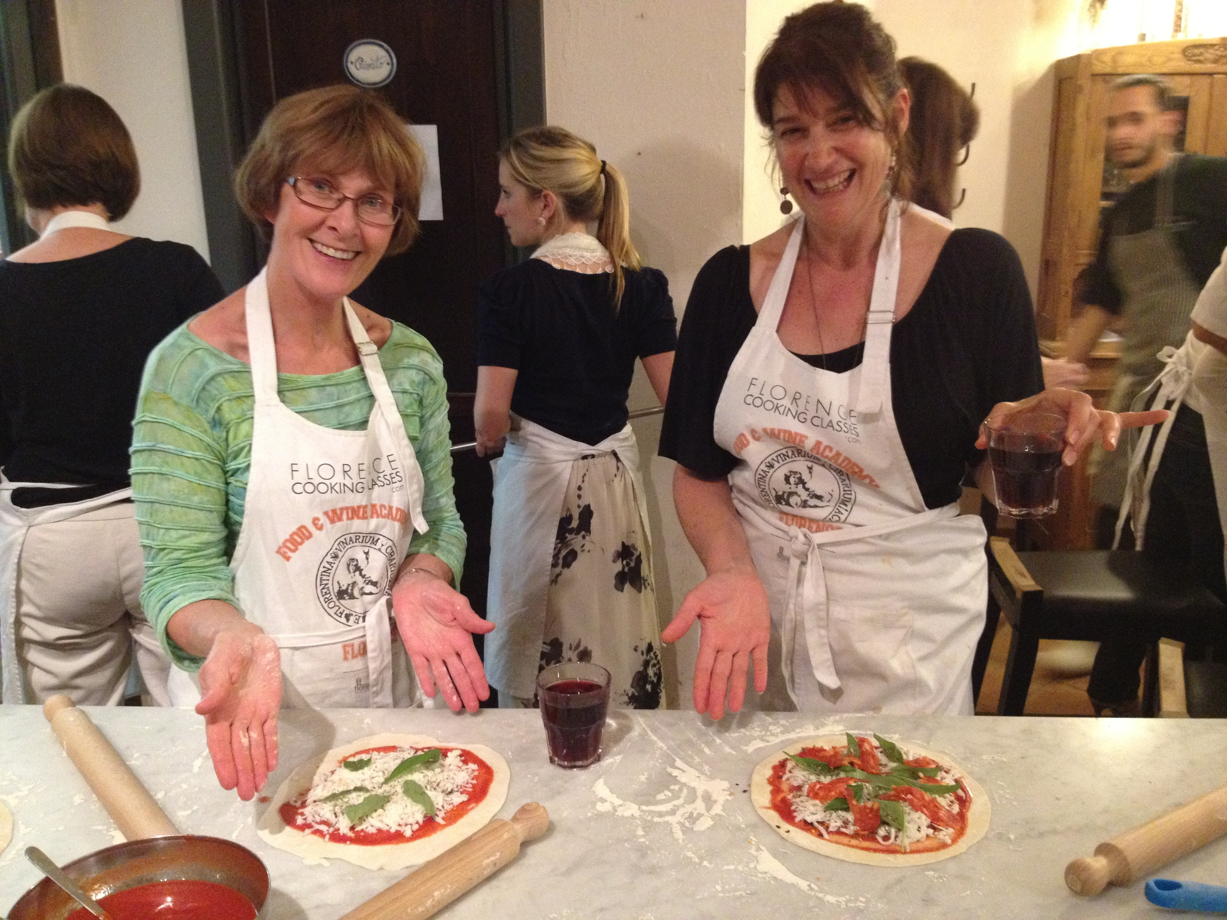 Learn to make pizza and gelato.