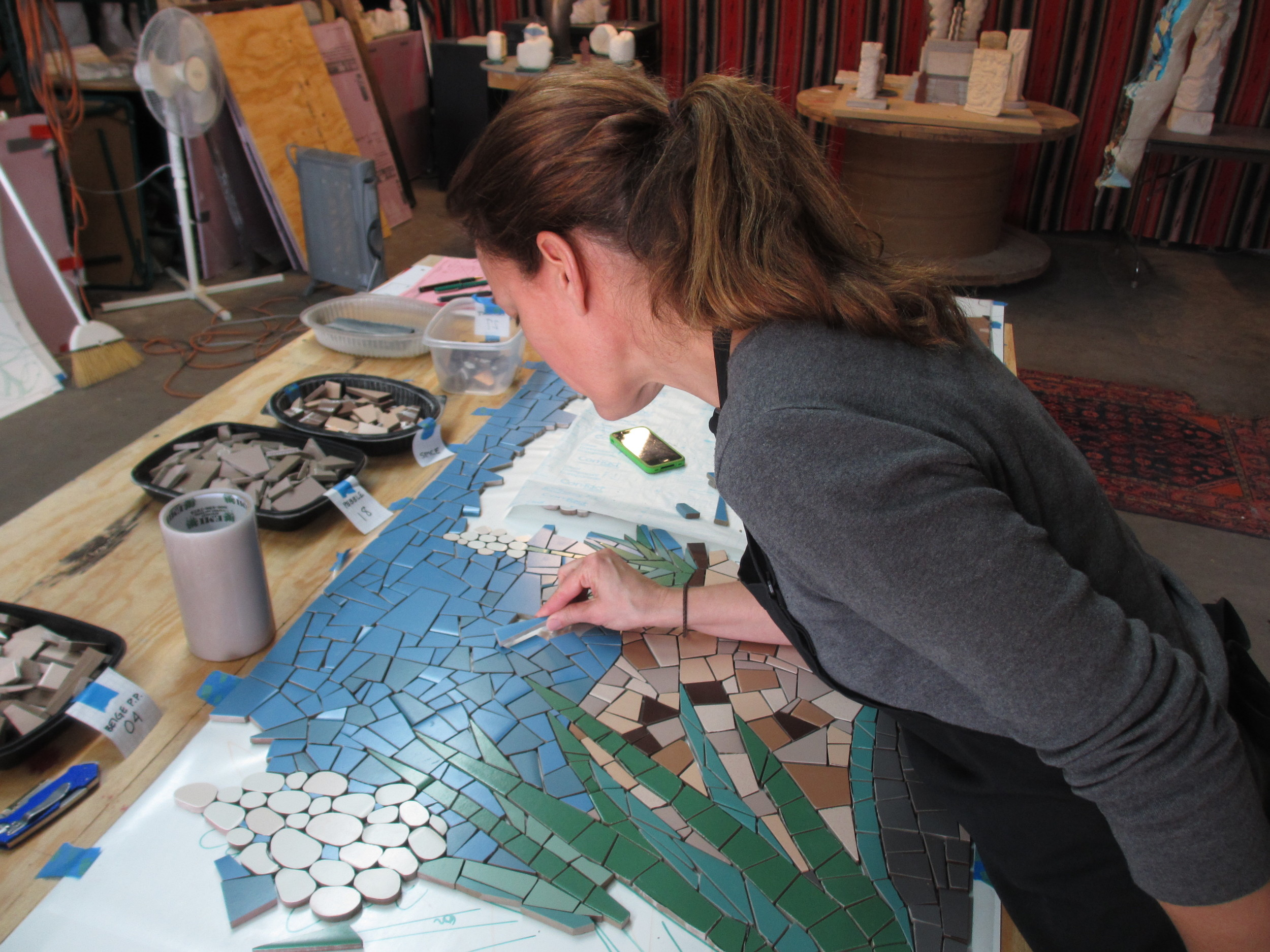 Assembling the San Angelo Heritage Mosaic for Angelo State University, 2013