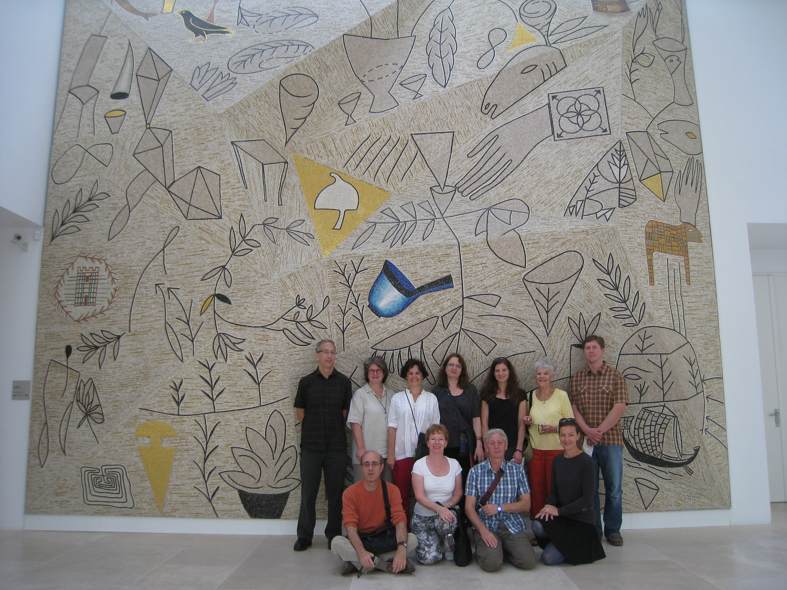 2011 Mosaic Tour members visit the Ara Pacis in Rome. Read all about our 2011 tour at  MosaicArtNOW.