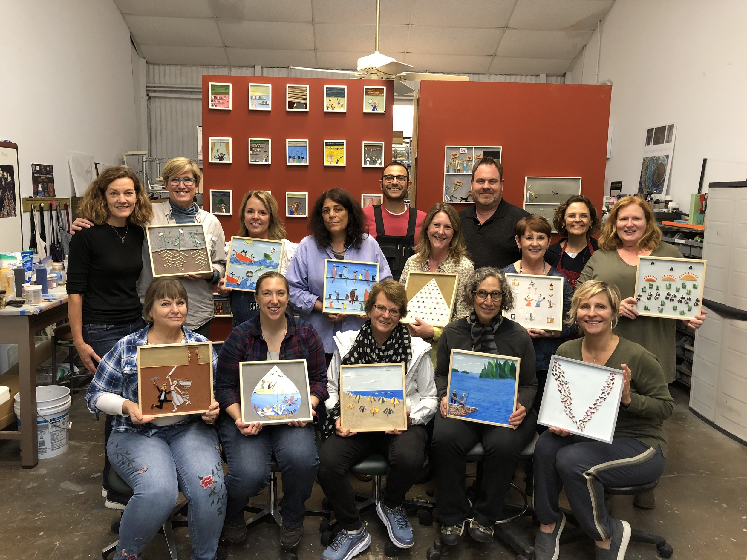 Students at our 2018 workshop with visiting artist Luca Barberini. What a blast!