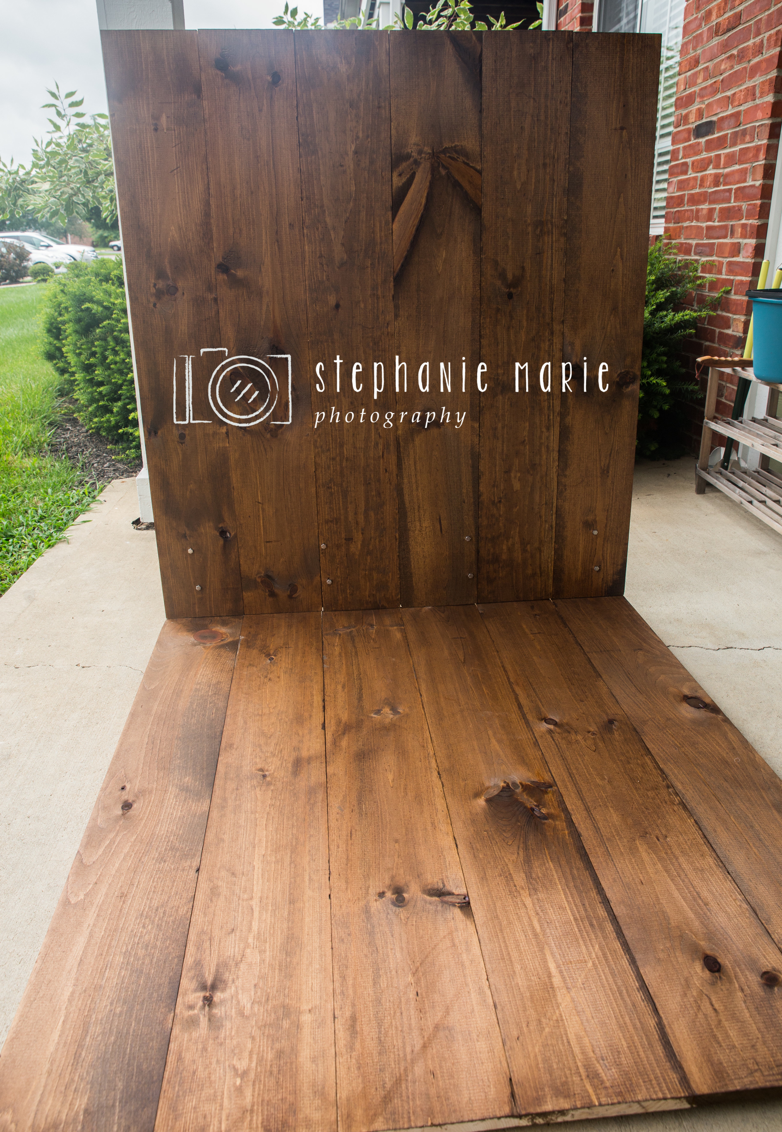 How to DIY Photography Faux Wood Floor & Wall Backdrop Prop For Photographers