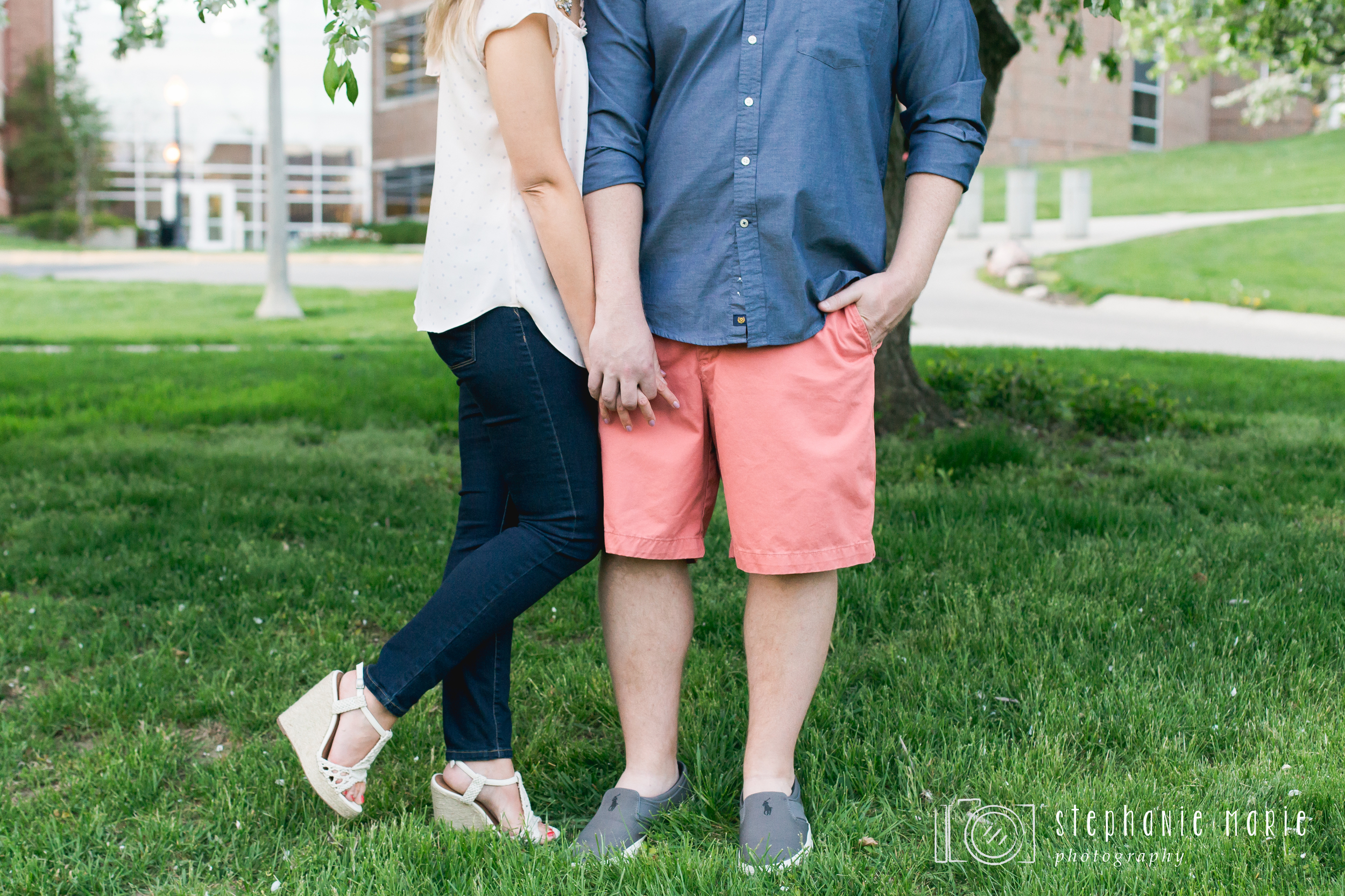 An Engagement Session in Downtown Springfield Ohio, Centerville Ohio Portrait & Wedding Photographer, Stephanie Marie Photography