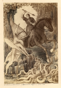 St. George and the Pterodactyl  B. Waterhouse Hawkins, 4 December 1873-Ann 4 Dec[ember] 1968.