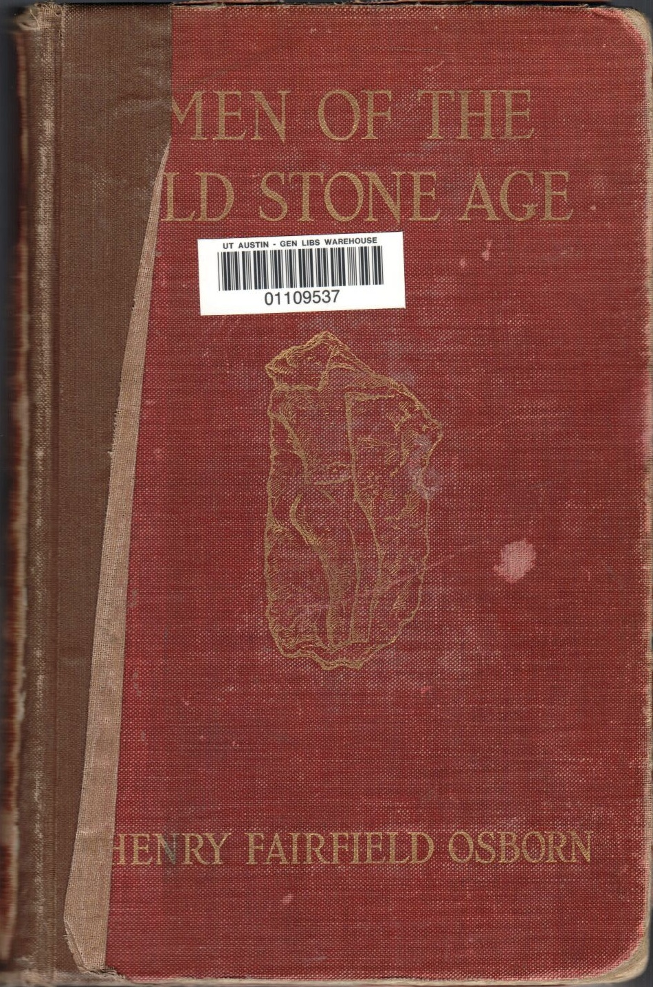 Front cover of  Men of the Old Stone Age  by Henry Fairfield Osborn, 1915 printing.