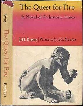 Quest for Fire  book cover, courtesy of WikiCommons.