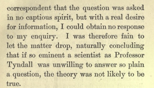 The Neanderthal Skull  by Rev. B.W. Savile, 1885. Preface, pp viii-ix. Later in the Preface, Savile tells readers that Darwin, himself, answered Savile's inquiry, pointing to the Australian echidna as an example of an egg-laying mammal.