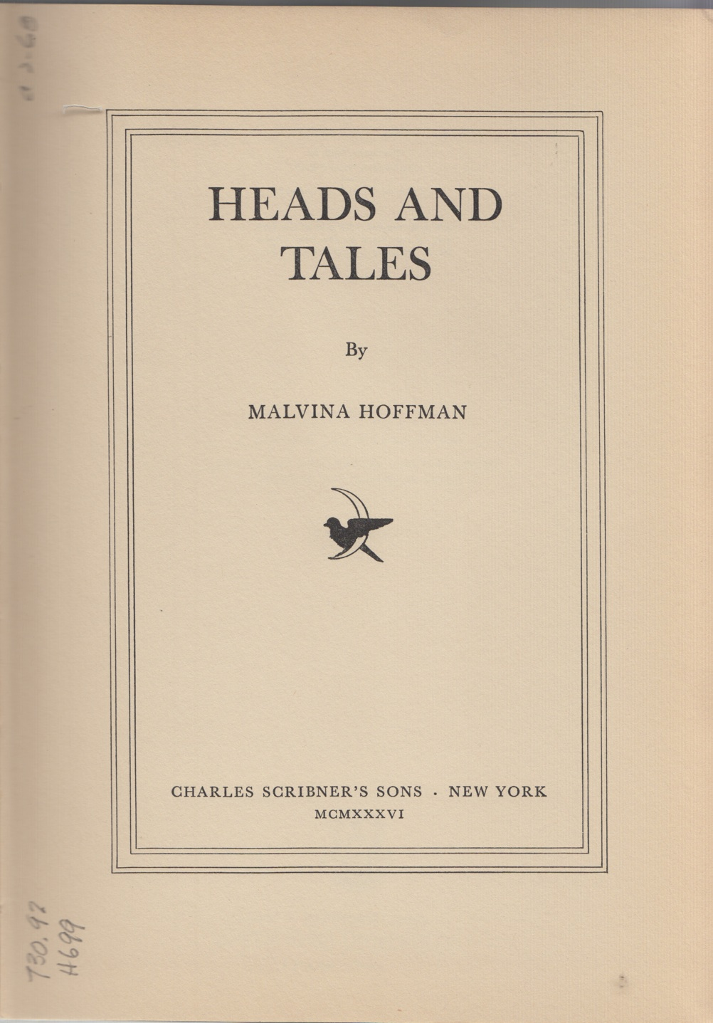 Cover page of Hoffman's memoir,  Heads and Tales