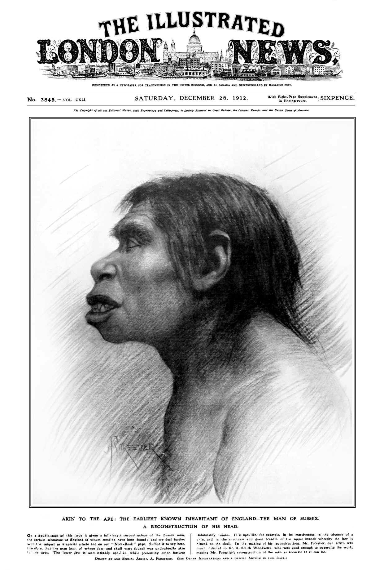 Piltdown in Illustrated London News