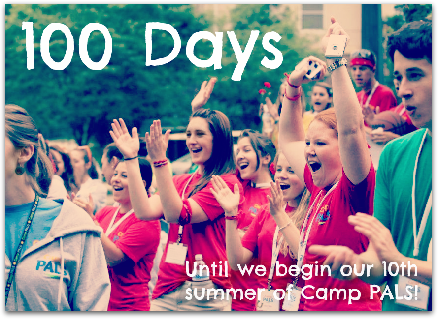 Today begins our 100 day countdown until the beginning of our 10th summer! 100 days from today we kick off the summer with Camp PALS: Princeton and we're  so  excited! We can hardly wait to begin our best summer yet. See you soon!