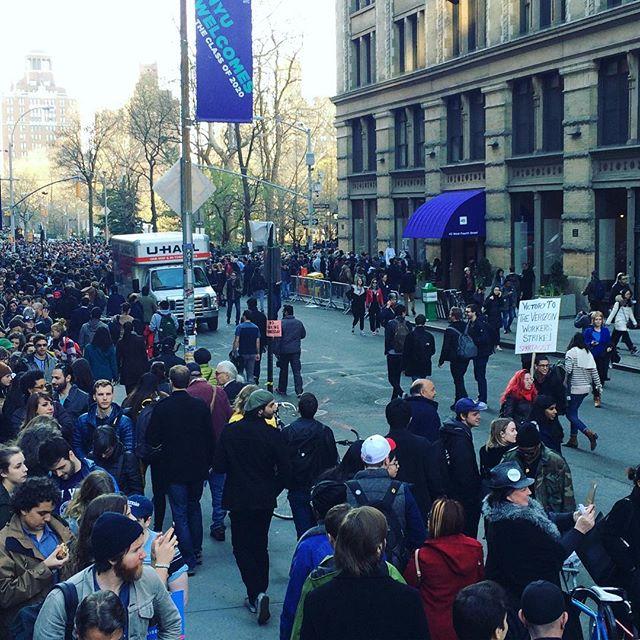 NYC is Berning up 🔥🔥🔥 #feelthebern