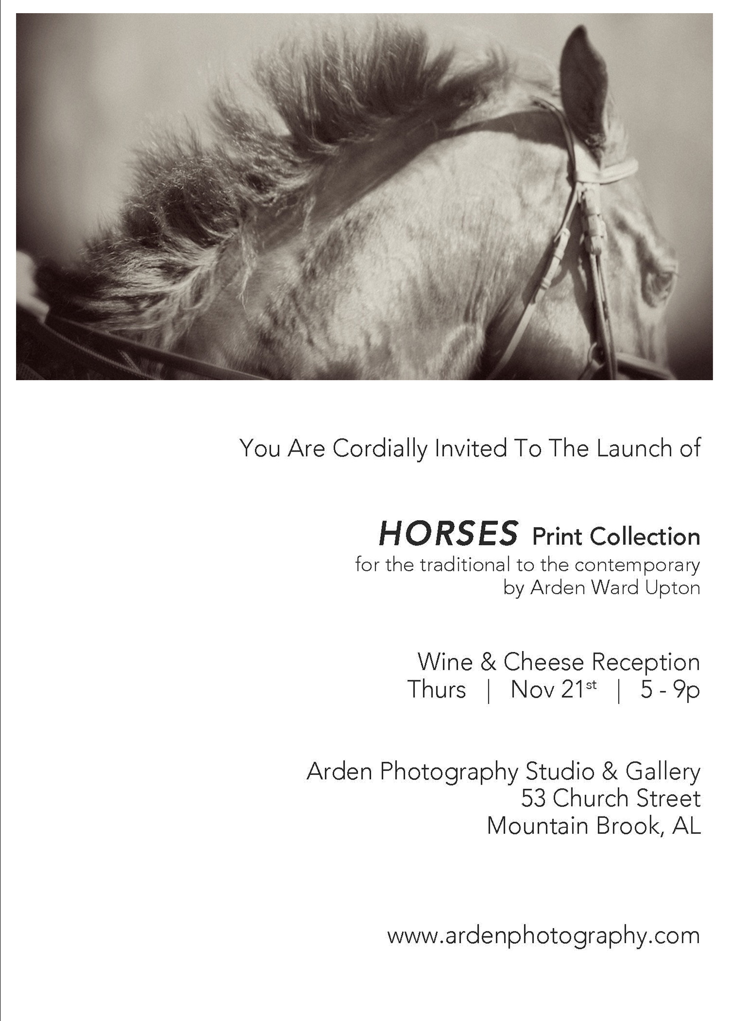 "Official Invite to ""Equus"" by Arden Ward Upton"