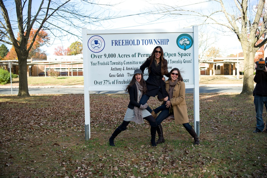 Jaime in Freehold with Danielle and Luci