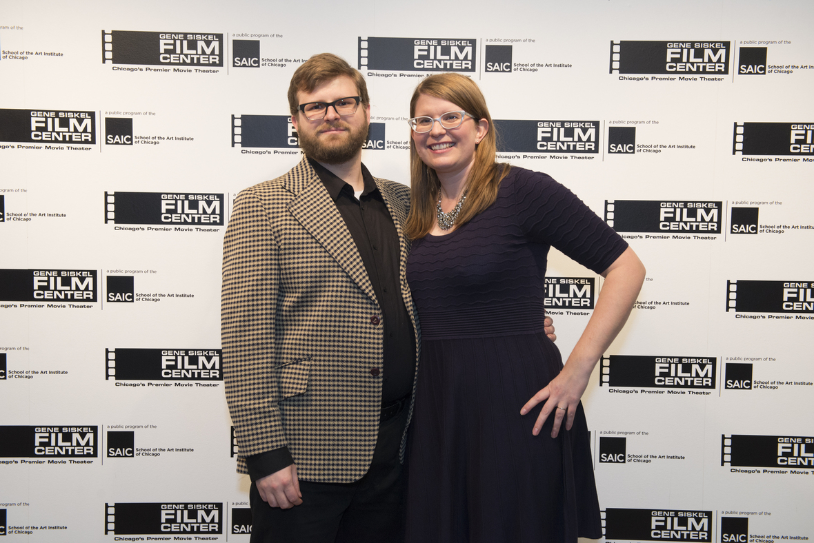 Associate Producer Brian Risselada and Director Holly L. De Ruyter at the Siskel. Photo by Tina Smothers Photography