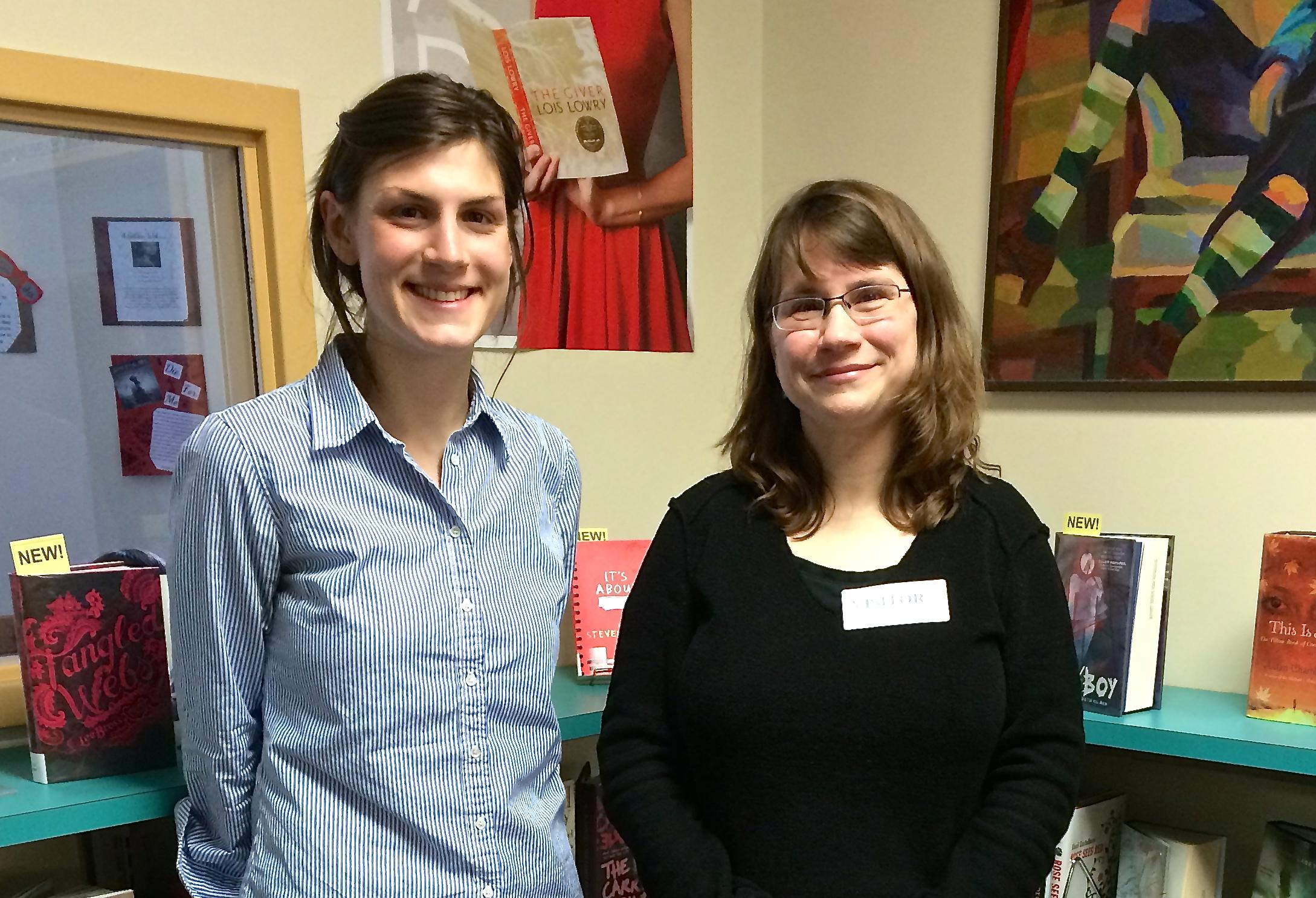 Jennifer Noel with Westbrook High School teacher, Julie McCabe