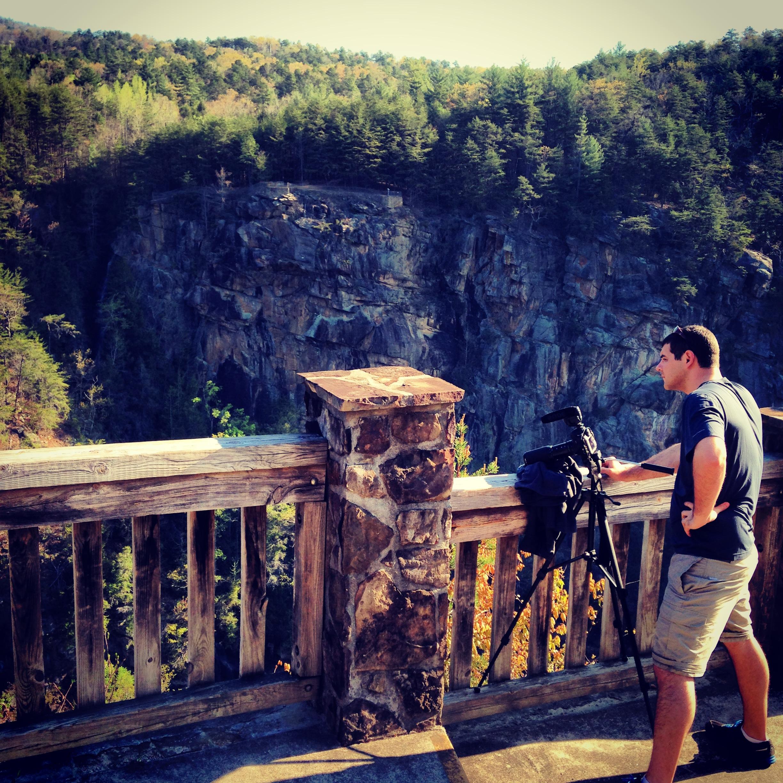 Kyle shooting the dam release in Tallulah Falls, Georgia.
