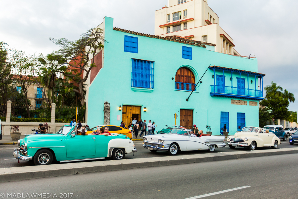 What everyone thinks of when they think of Cuba. Old American cars and bright colors.