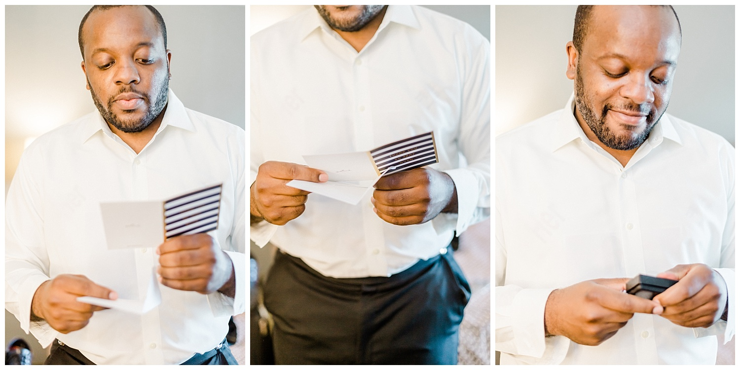 LaRhonda has such a kind heart. Her wedding gift to her soon to be groom was such a tear jerker. She showed her support for Delante and his family by surprising him with custom made cuff links with his grandmothers pictures.