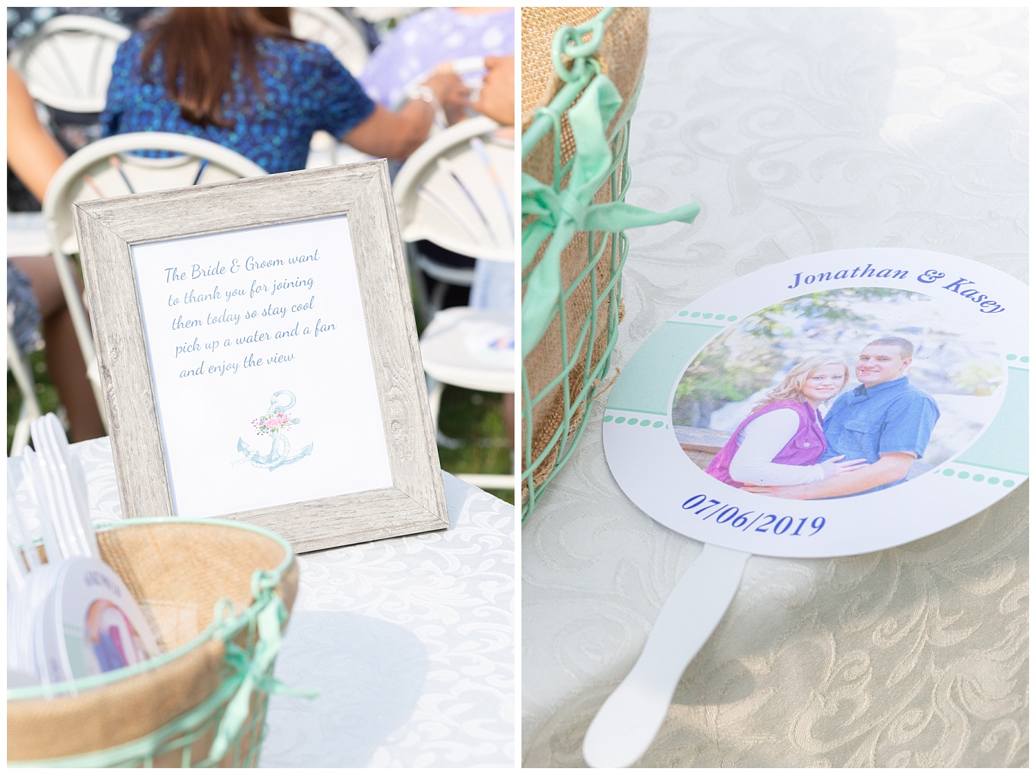 For the ceremony the couple gave out the cutest fans for their guests to stay cool