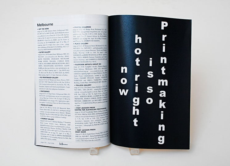 Hot process, 2008  winner of the Fremantle Print Award