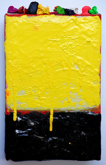 Abstract edge 6  acrylic and oil on linen  40 x 18 cm