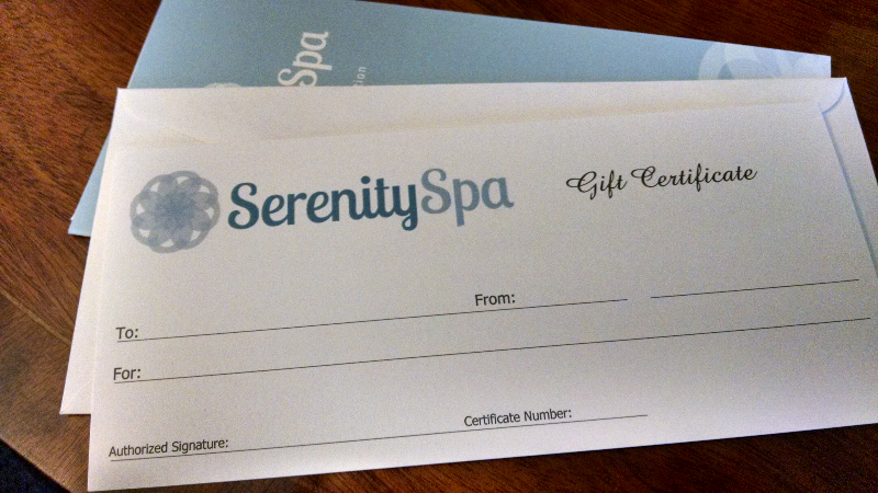 Traverse City Spa Gift Certificate