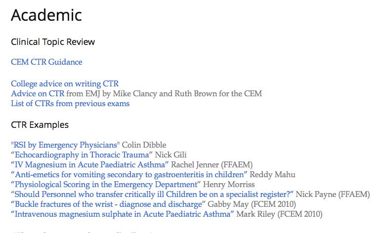 FCEM Academic exams