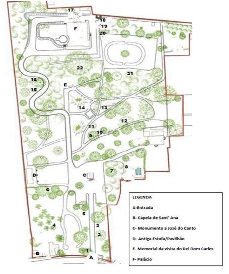 Mapa do Jardim Botânico José do Canto (clique para ampliar)