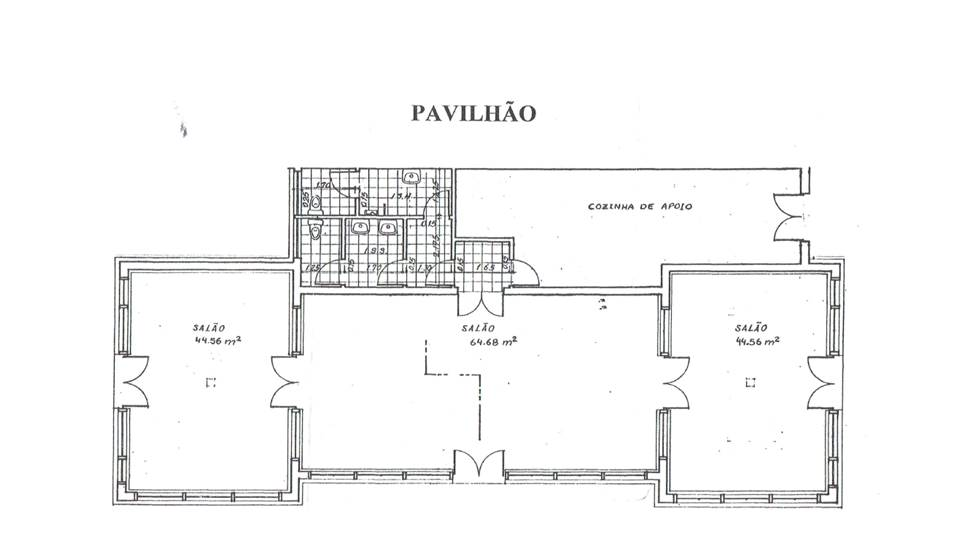 planta do Pavilhão/Estufa