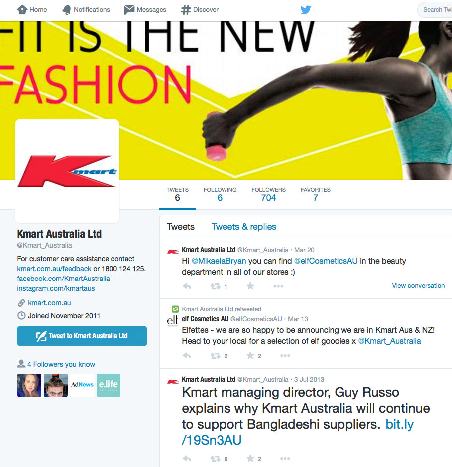 Kmart Australia's twitter profile is a real black hole. They have not tweeted since March! Why does this account exist? It is extremely embarrassing for their brand.