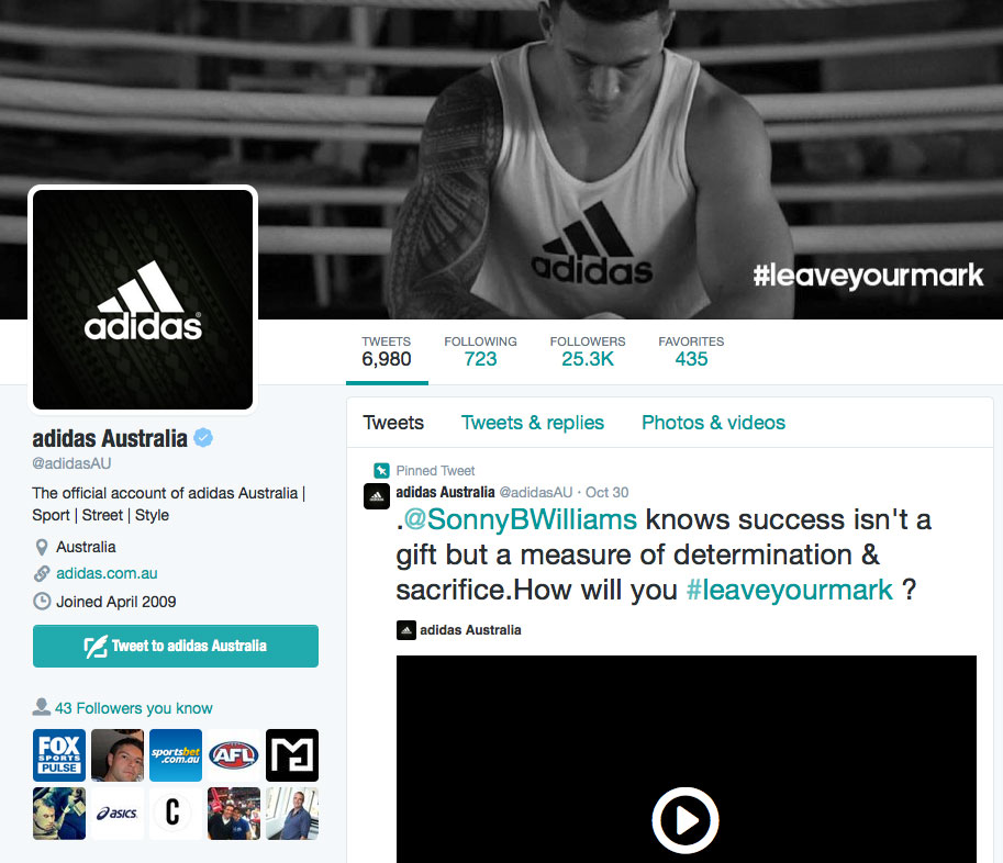After doing some shopping I decided to tweet @adidasAU