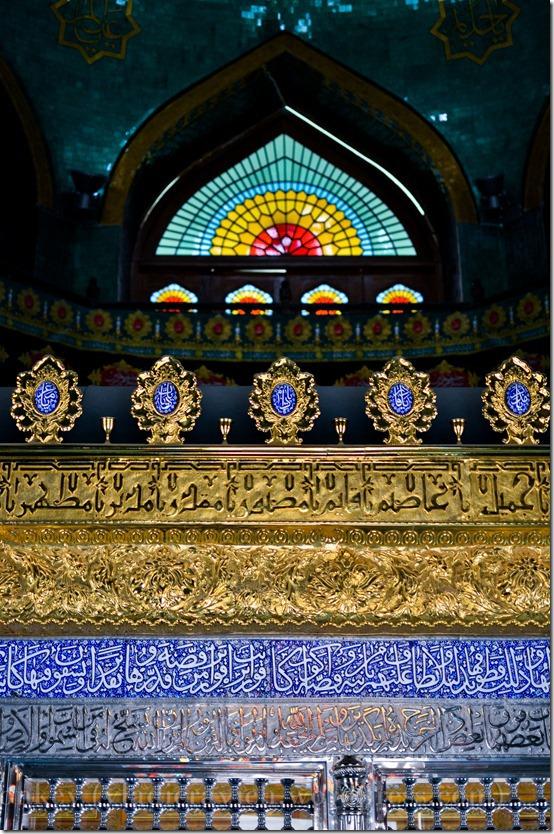 Inside the Bibi Hibat Pir outside Baku, rebuilt in the 1990s.