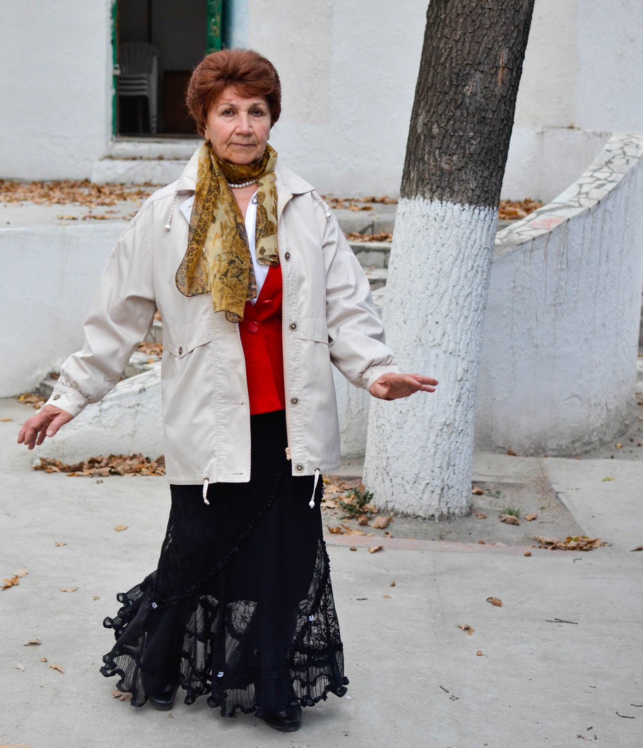 Member of the 40+ club in Bishkek, where dozens of seniors gather to dance in the park every week.