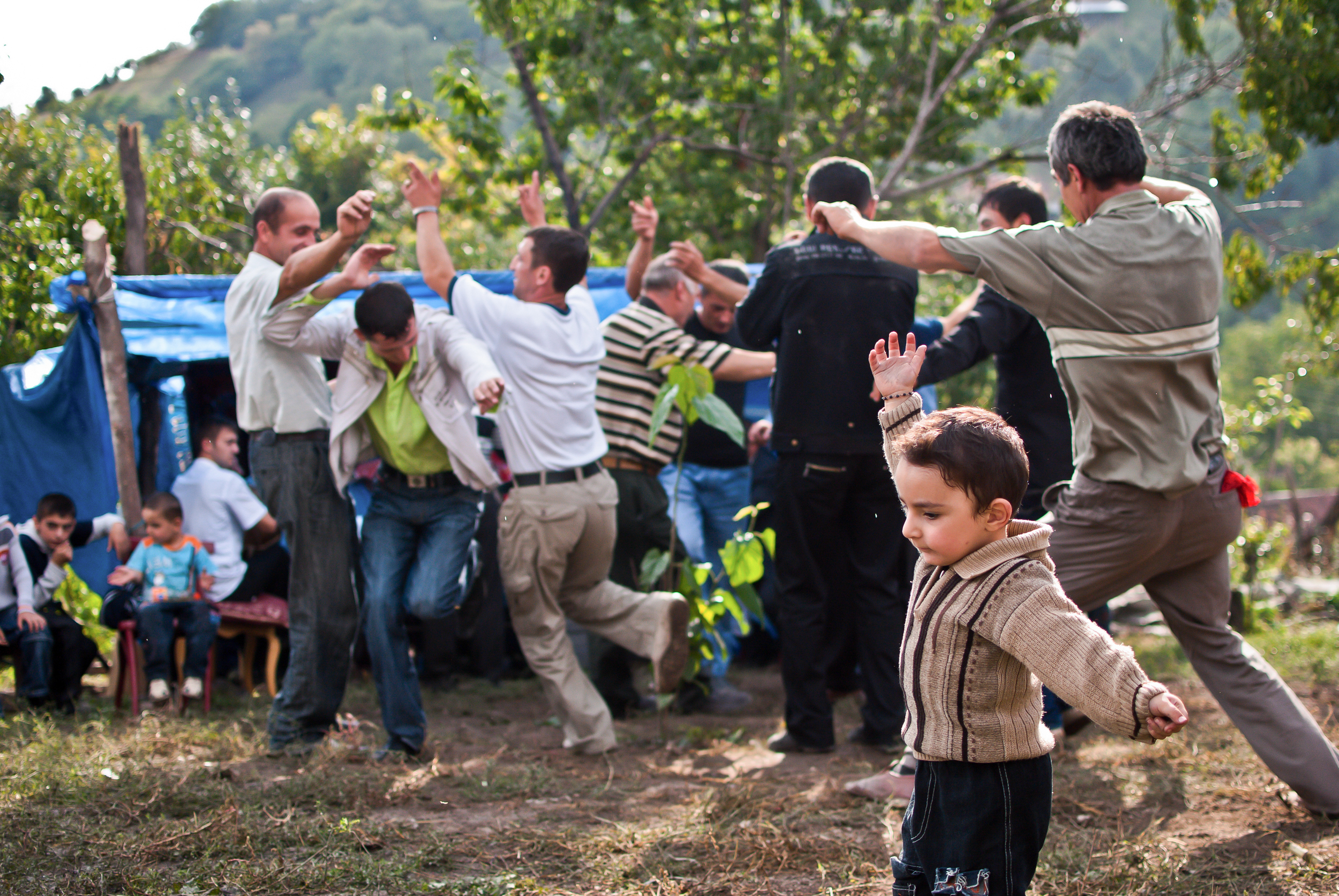 A child learns the traditional dances that are one of the main activities at most Caucasus weddings. Take in the small mountain village of Kish in the north of Azerbaijan.