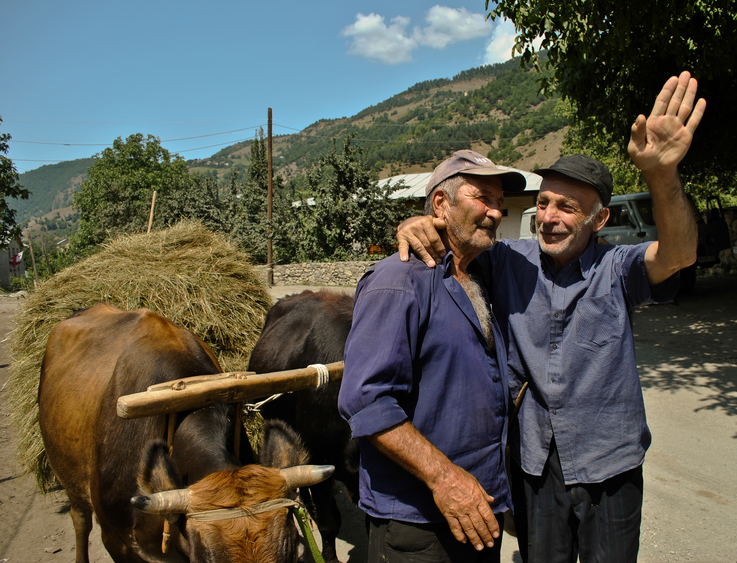 Villagers from Georgia's Svaneti region, one of the most isolated parts of the country.