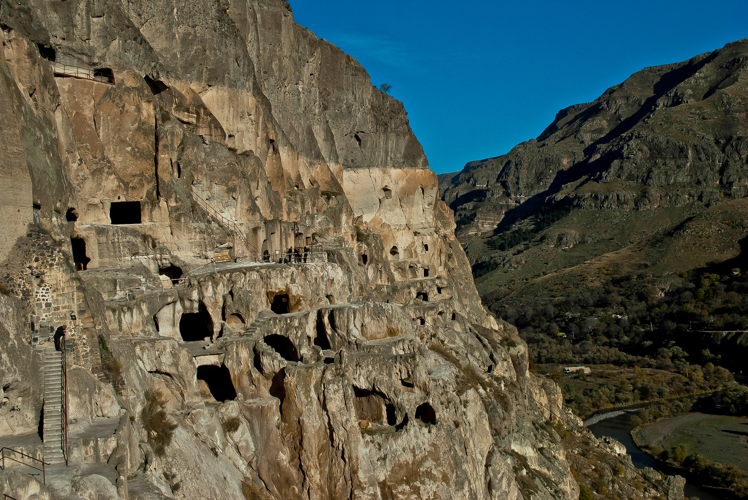 The mountain monastery of Vardzia