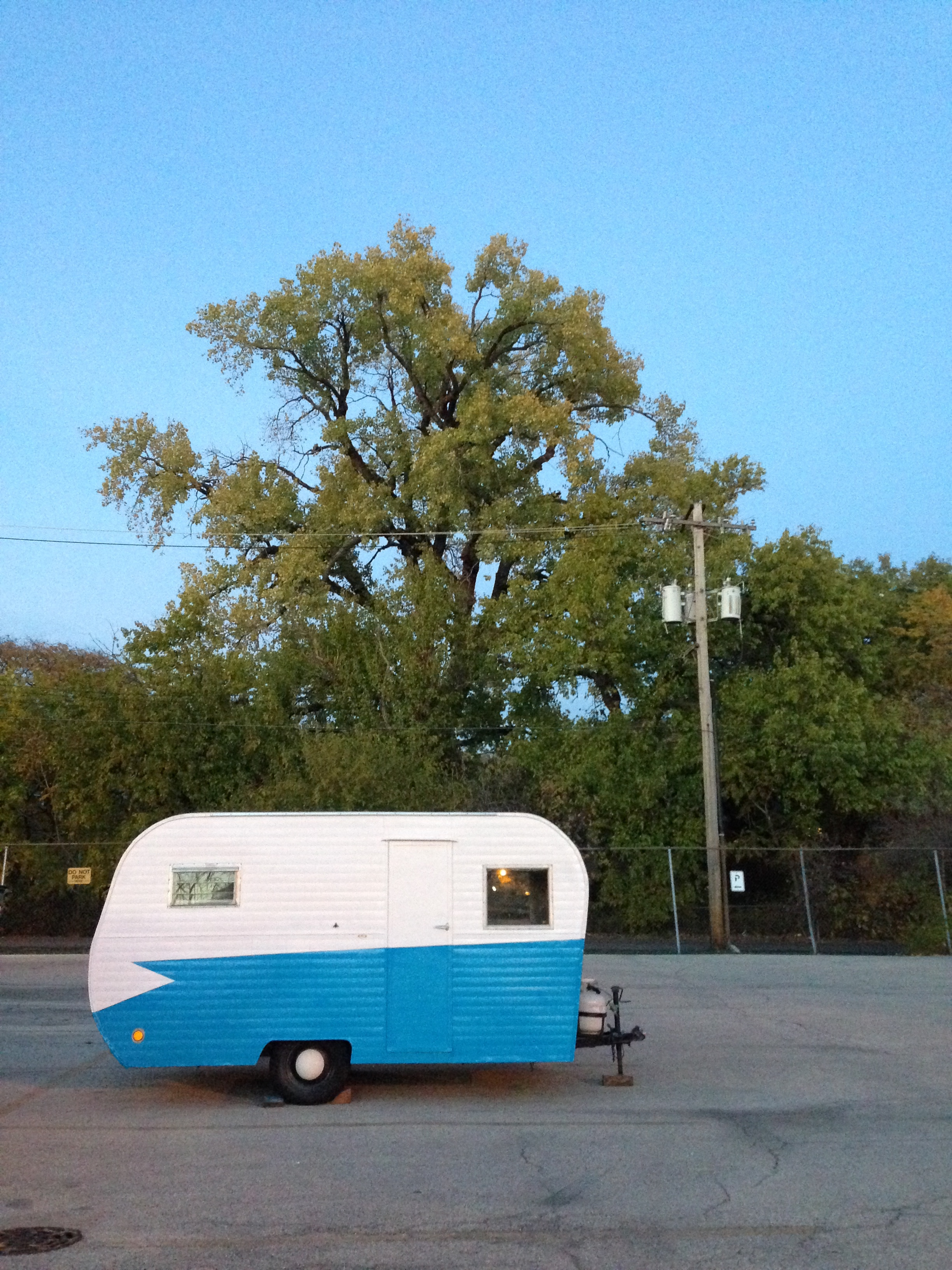 Timmy's temporary home in his Chicago parking lot.