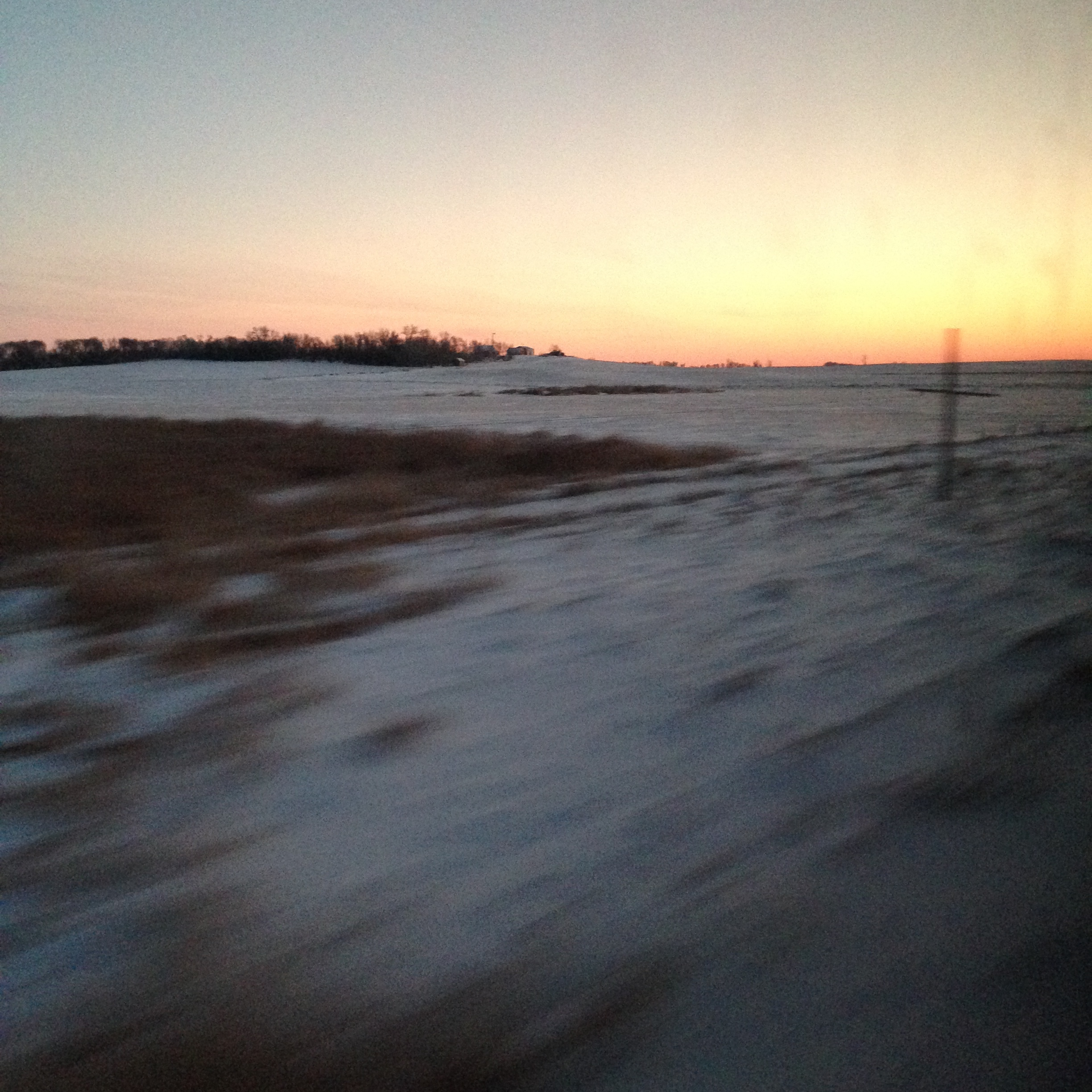 Sunset over North Dakota