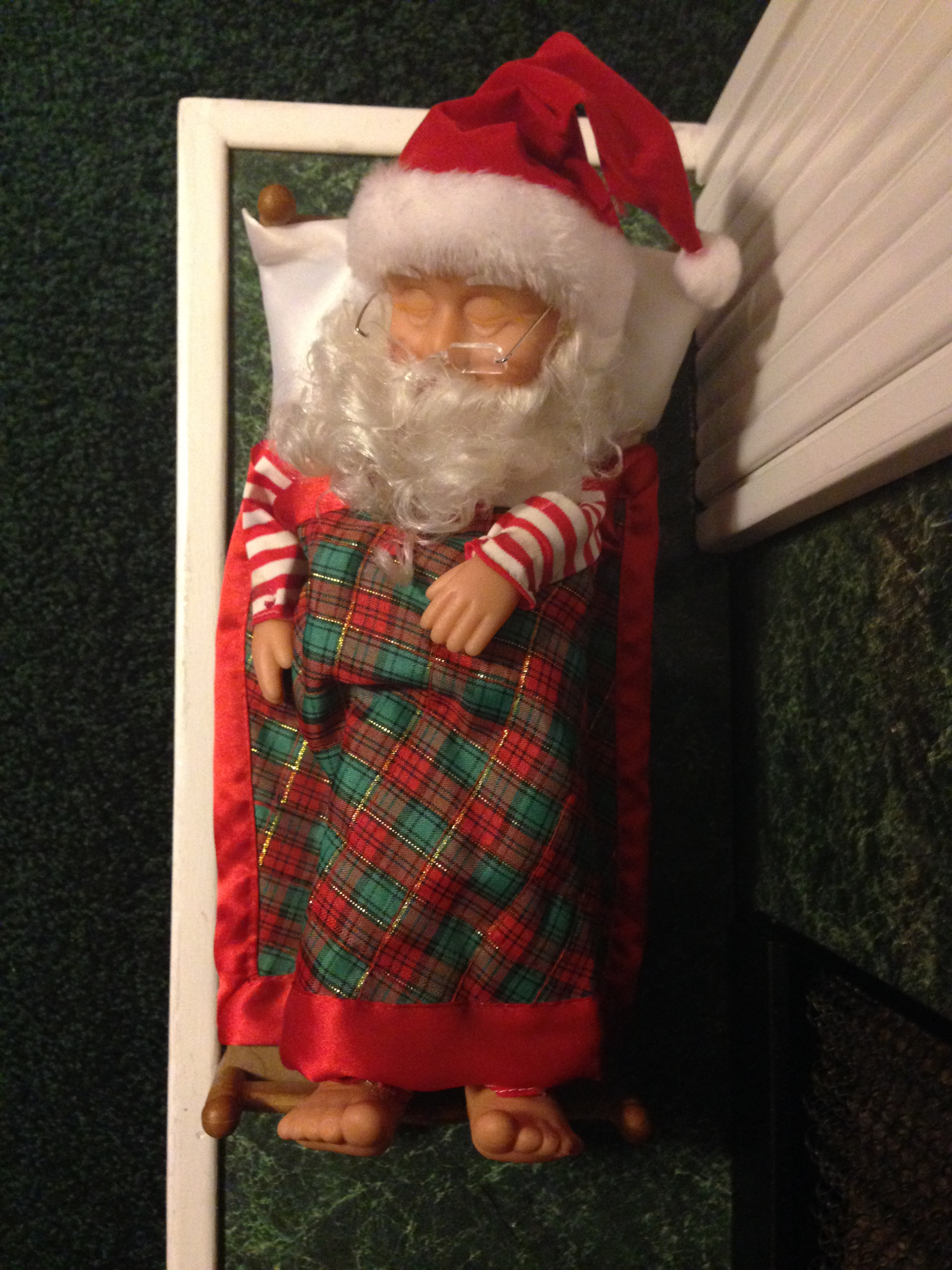 sshhh Santa, go to sleep. It's been a long day.