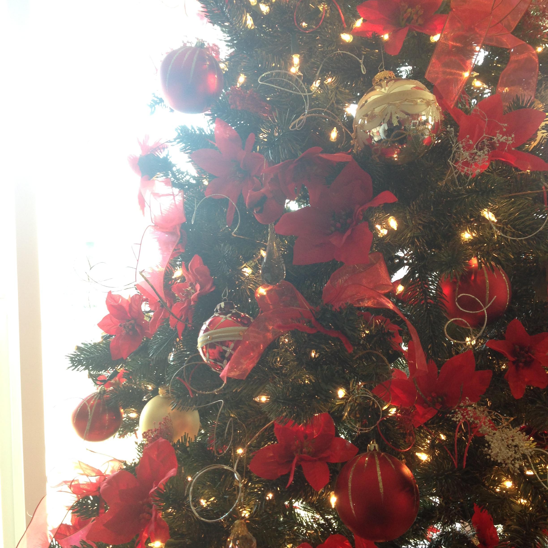 Erics mom, Mary, makes a pretty tree.