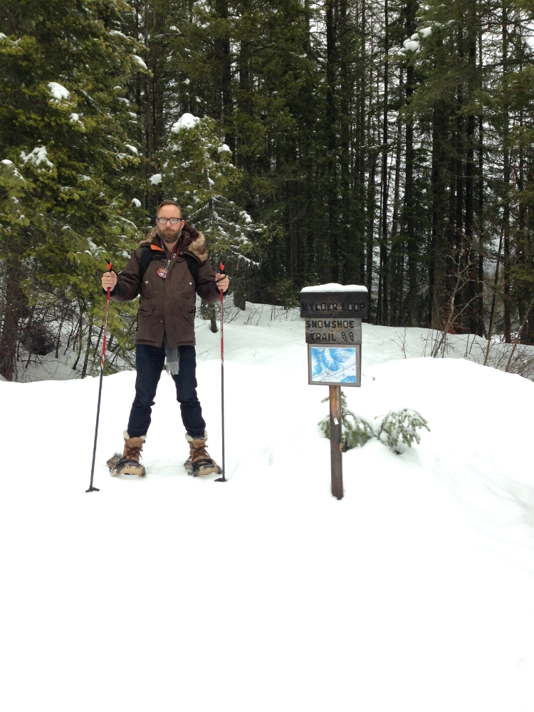 We decided to go snow shoe'ing for the first time.  We may have misread the map....