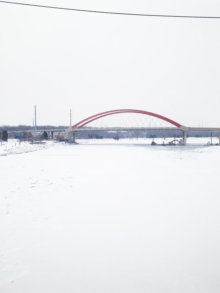 Mississippi River/Ice Skating Rink