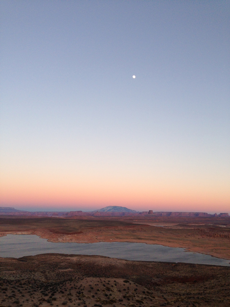 Lake Powell at sunset.